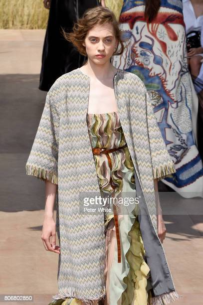 Lia Pavlova walks the runway during the Christian Dior Haute Couture Fall/Winter 20172018 show as part of Haute Couture Paris Fashion Week on July 3...