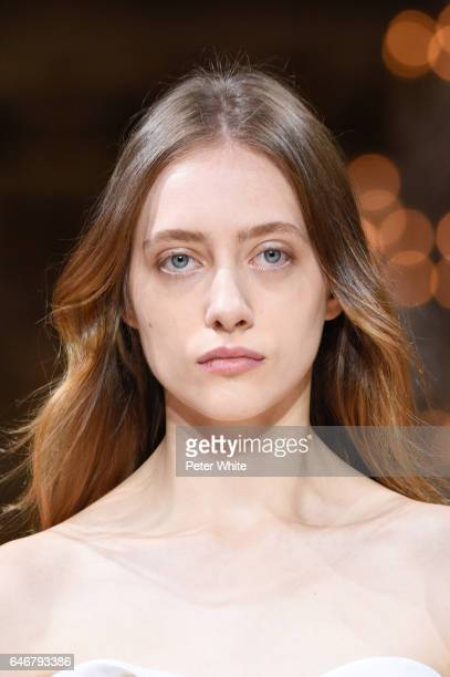 Lia Pavlova walks the runway during the Lanvin show as part of the Paris Fashion Week Womenswear Fall/Winter 2017/2018 on March 1 2017 in Paris France