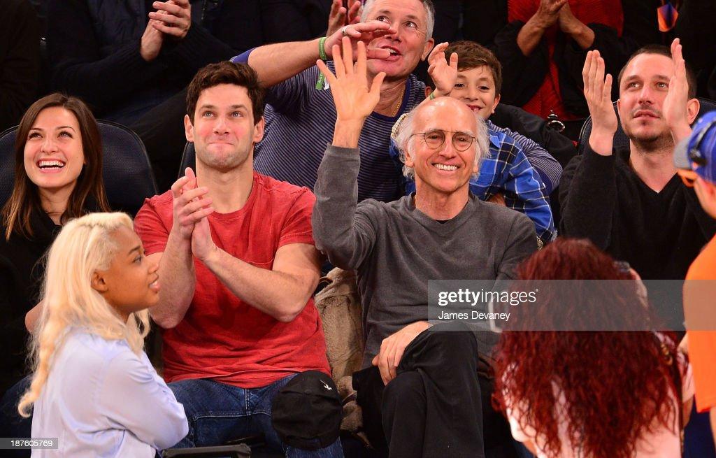 Celebrities Attend The San Antonio Spurs Vs New York Knicks Game - November 10, 2013
