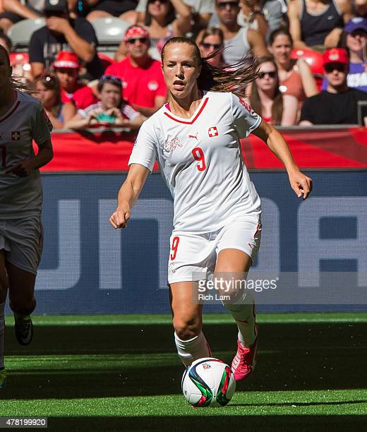 Lia Walti of Switzerland runs with the ball during the FIFA Women's World Cup Canada 2015 Round of 16 match between Switzerland and Canada June 2015...