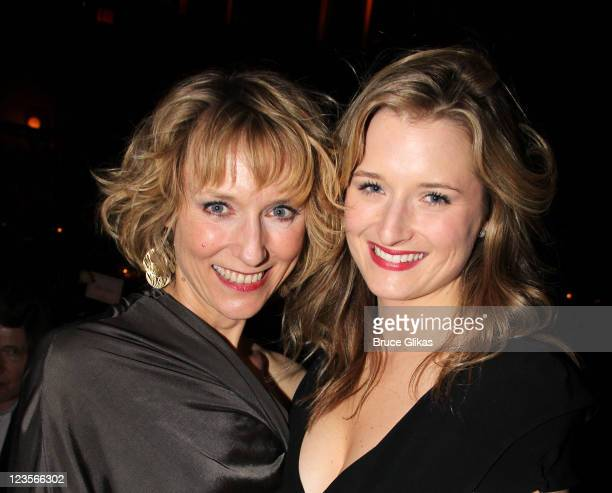 Lia Williams and Grace Gummer pose at the opening night Party for 'Arcadia' on Broadway at Gotham Hall on March 17 2011 in New York City