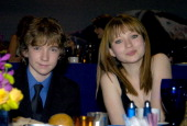 Liam Aiken and Emily Browning during ShoWest 2004 Paramount Pictures Inside Ballroom Access at Bally's Paris Hotel in Las Vegas Nevada United States