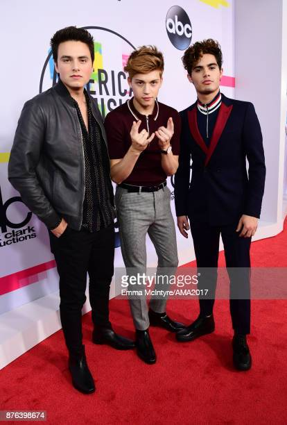 Liam Attridge Ricky Garcia and Emery Kelly of Forever In Your Mind attend the 2017 American Music Awards at Microsoft Theater on November 19 2017 in...
