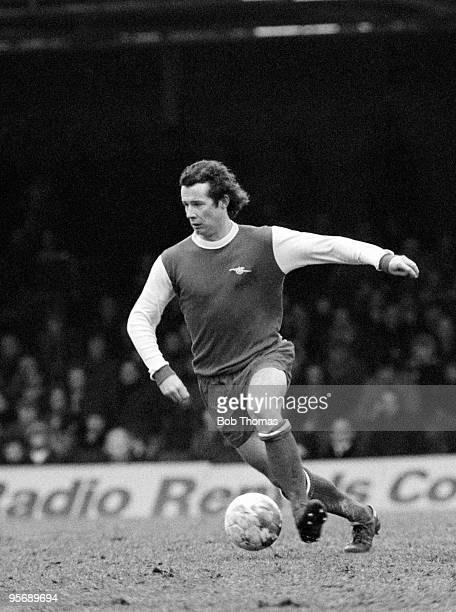 Liam Brady in action for Arsenal during their First Division league match against Leicester City at Filbert Street in Leicester 11th February 1978...