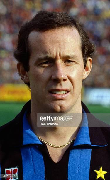 Liam Brady of Inter Milan at the Inter Milan v AC Milan Italian League match held at San Siro Stadium in Milan on the 28th October 1984 AC Milan won...