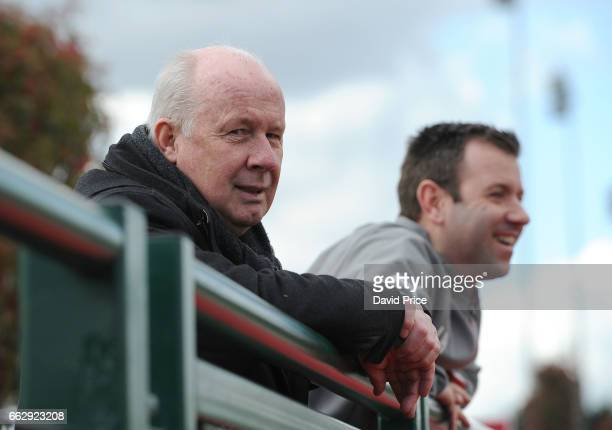 Liam Brady the former Arsenal player watches the action during Arsenal and Juventus in the Liam Brady Cup on April 1st 2017 in Walthamstow England