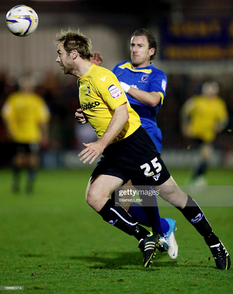 Liam Chilvers of Port Vale in action during the npower League Two match between AFC Wimbledon and Port Vale at The Cherry Red Records Stadium on January 24, 2013 in Kingston upon Thames, England.