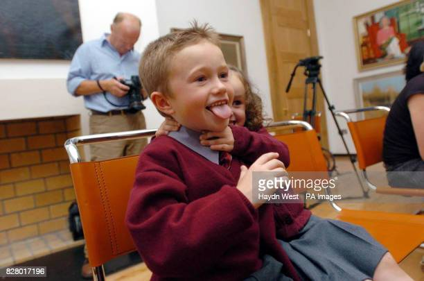Liam Clifford and Kyna at the launch of a Labour Party document entitled 'Back To School Financial Burden on Families' at Ely Place Dublin
