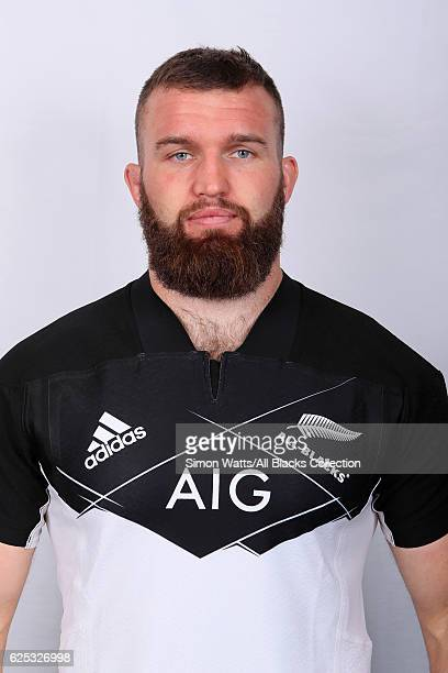 Liam Coltman poses during the All Blacks End of Year Tour 2016 Headshots Session at Auckland International Airport Novotel on October 28 2016 in...