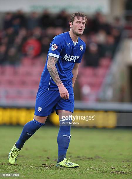 Liam Cooper of Chesterfield in action during the Sky Bet League Two match between Northampton Town and Chesterfield at Sixfields Stadium on January...