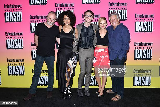 Liam Cunningham Nathalie Emmanuel Isaac Hempstead Wright Faye Marsay and Conleth Hill attend Entertainment Weekly's ComicCon Bash held at Float at...