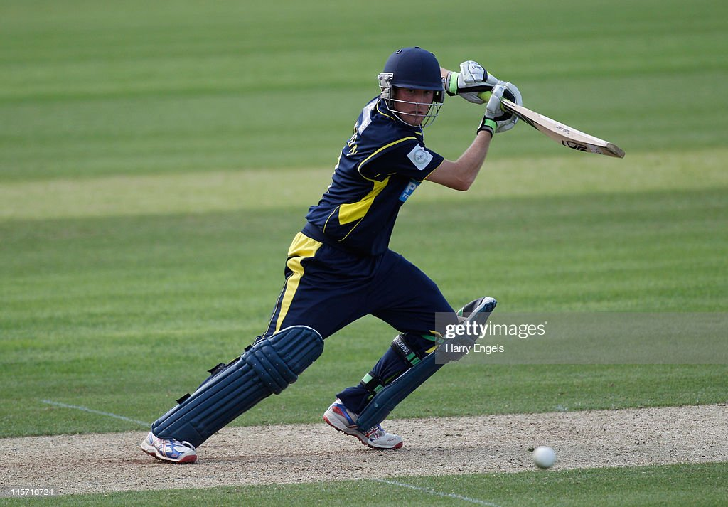 Liam Dawson of Hampshire picks up some runs during the Clydesdale Bank Pro40 match between the Hampshire Royals and the Scottish Saltires on June 4, 2012 in Southampton, England.