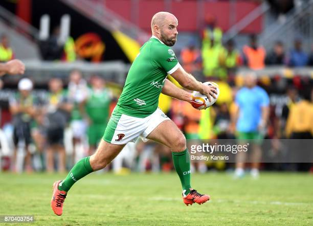 Liam Finn of Ireland runs with the ball during the 2017 Rugby League World Cup match between Papua New Guinea Kumuls and Ireland on November 5 2017...