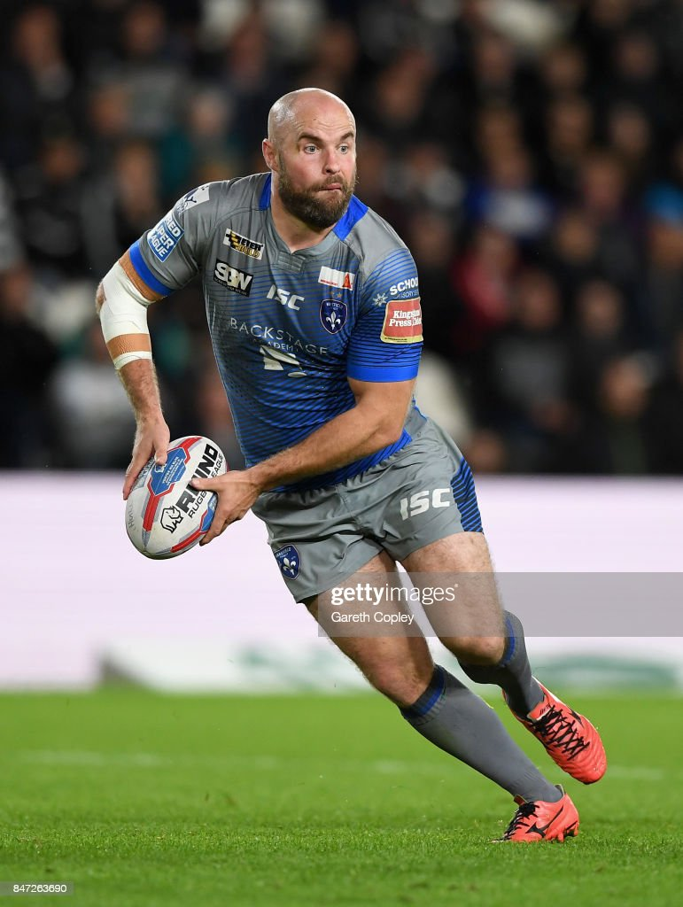 Liam Finn of Wakefield during the Betfred Super League match between Hull FC and Wakefield Trinity on September 14, 2017 in Hull, England.