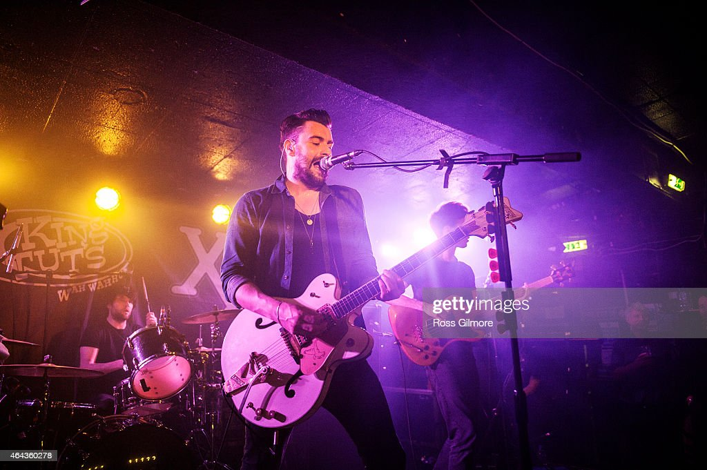 Liam Fray of the Courteeners performs at King Tuts on February 24 2015 in Glasgow Scotland