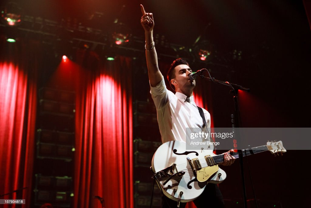 Liam Fray of The Courteeners performs at Manchester Arena on December 7 2012 in Manchester England