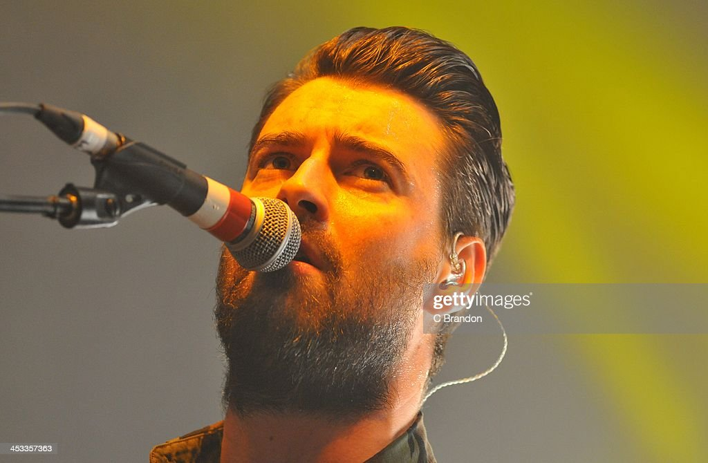 Liam Fray of The Courteeners performs on stage at Shepherds Bush Empire on December 3 2013 in London United Kingdom