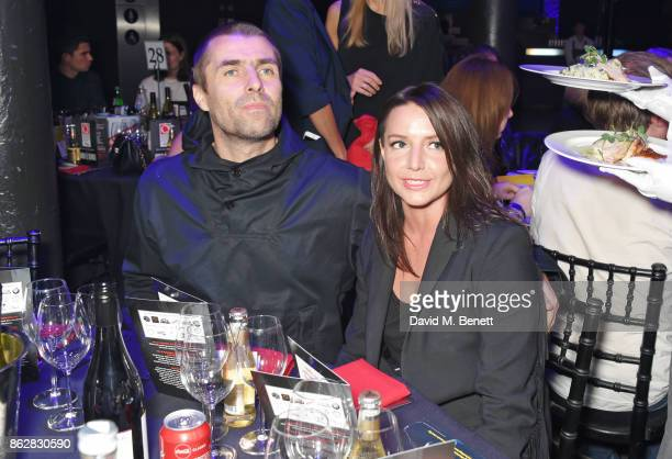 Liam Gallagher and Debbie Gwyther attend The Q Awards 2017 in association with Absolute Radio at The Roundhouse on October 18 2017 in London England