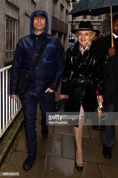 Liam Gallagher and Fiona Shackleton arrive at The Family Court on September 16 2015 in London England The former Oasis front man met Nicole Appleton...