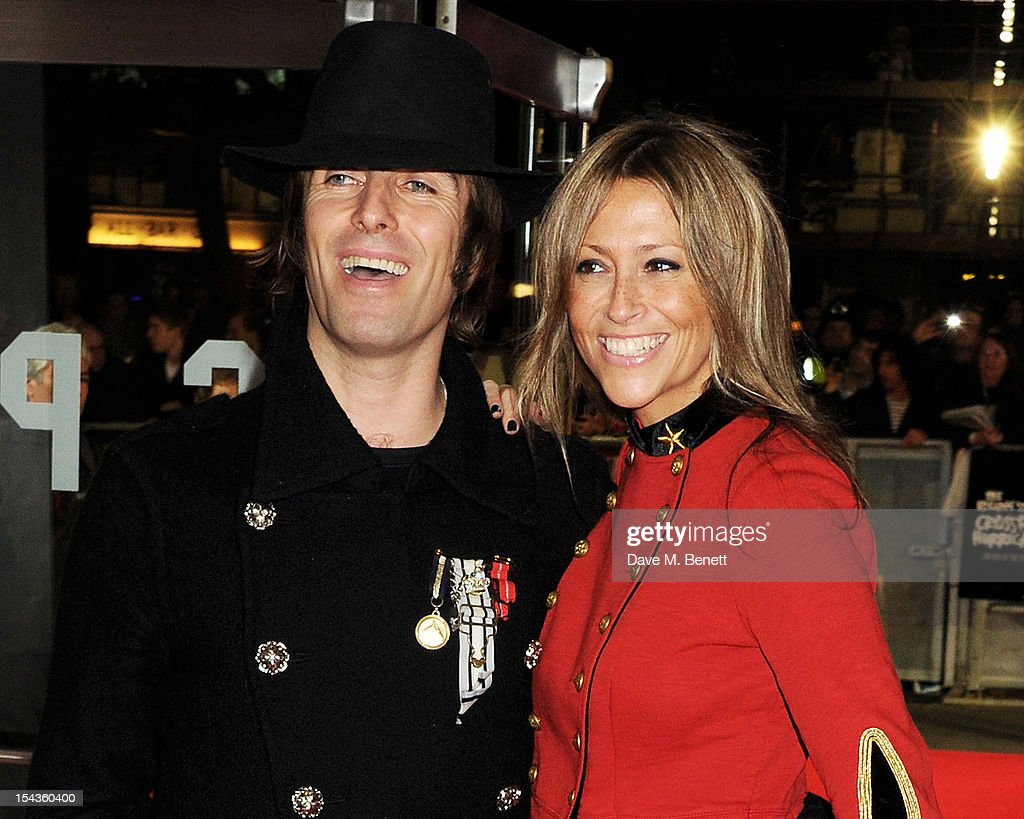 Liam Gallagher (L) and Nicole Appleton attend the Gala Premiere of 'Crossfire Hurricane' during the 56th BFI London Film Festival at Odeon Leicester Square on October 18, 2012 in London, England.
