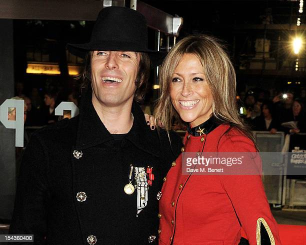 Liam Gallagher and Nicole Appleton attend the Gala Premiere of 'Crossfire Hurricane' during the 56th BFI London Film Festival at Odeon Leicester...