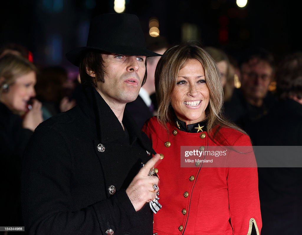 Liam Gallagher and Nicole Appleton attend the Premiere of 'Crossfire Hurricane' during the 56th BFI London Film Festival at Odeon Leicester Square on October 18, 2012 in London, England.