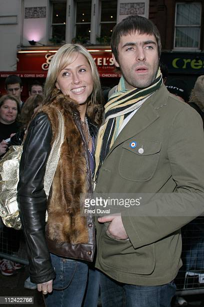 Liam Gallagher and Nicole Appleton during UK Radio Aid To Benefit Victims Of The Asian Tsunami Arrivals at Capital Radio Building Leicester Square in...