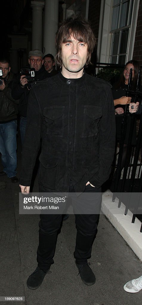Liam Gallagher at the Arts club Dover Street on January 7, 2013 in London, England.