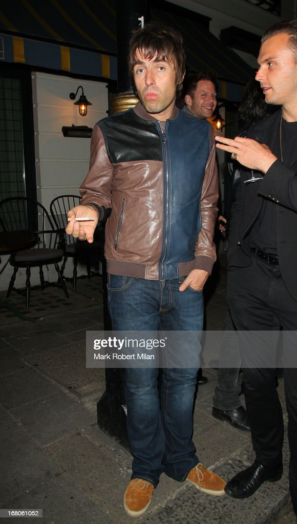 <a gi-track='captionPersonalityLinkClicked' href=/galleries/search?phrase=Liam+Gallagher&family=editorial&specificpeople=202958 ng-click='$event.stopPropagation()'>Liam Gallagher</a> at The Little House club on May 4, 2013 in London, England.