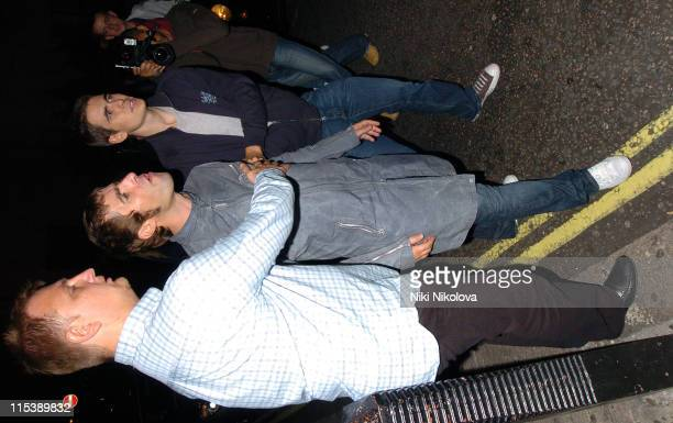 Liam Gallagher during Liam Gallagher and Noel Gallagher Sighting at MET Bar in London October 10 2005 at MET Bar in London Great Britain