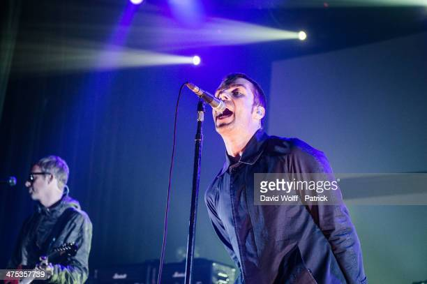 Liam Gallagher from Beady Eye performs at Le Bataclan on February 26 2014 in Paris France