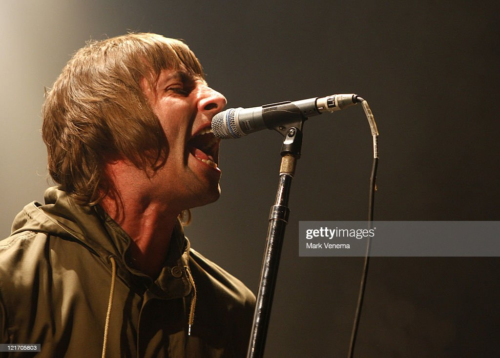 Liam Gallagher of Beady Eye performs on day three of Lowlands Festival on August 21, 2011 in Biddinghuizen, Netherlands.