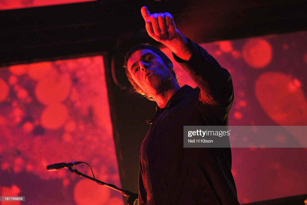 Liam Gallagher of Beady Eye performs on stage at O2 Academy on November 12, 2013 in Leeds, England.