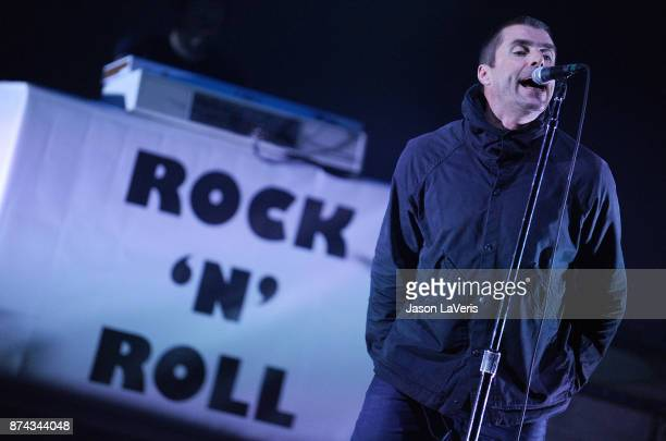 Liam Gallagher performs at The Wiltern on November 14 2017 in Los Angeles California