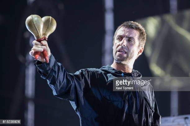 Liam Gallagher performs in concert during day 3 of Festival Internacional de Benicassim on July 15 2017 in Benicassim Spain