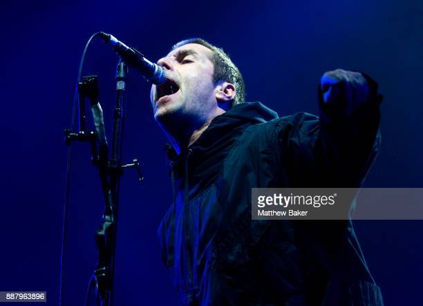 Liam Gallagher performs live on stage at Alexandra Palace on December 7 2017 in London England