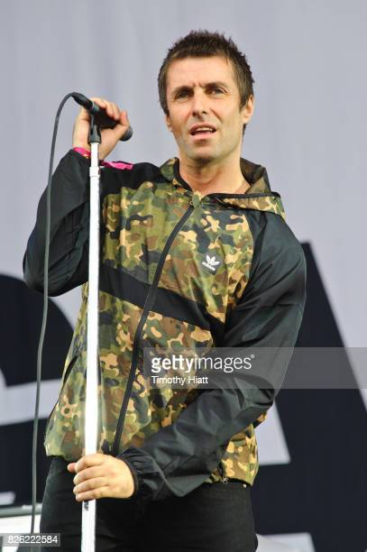 Liam Gallagher performs on day 1 of Lollapalooza at Grant Park on August 3 2017 in Chicago Illinois