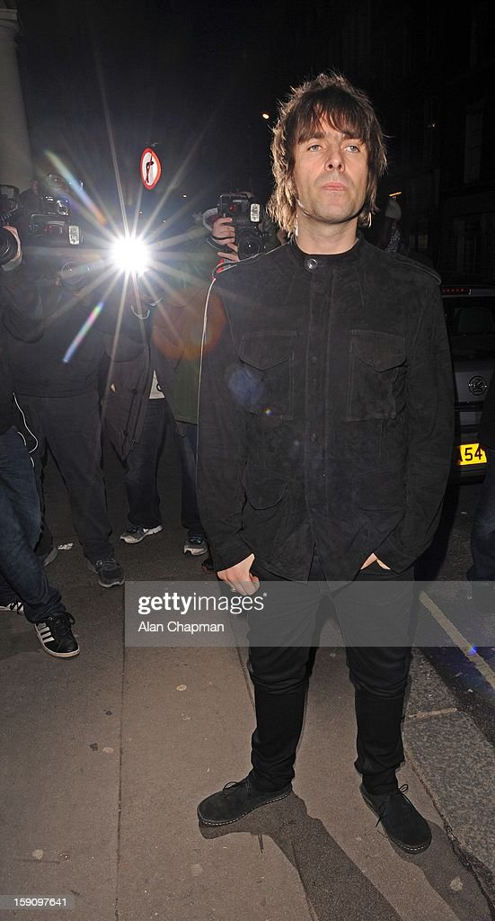 Liam Gallagher sighting at the Arts Club on January 7, 2013 in London, England.