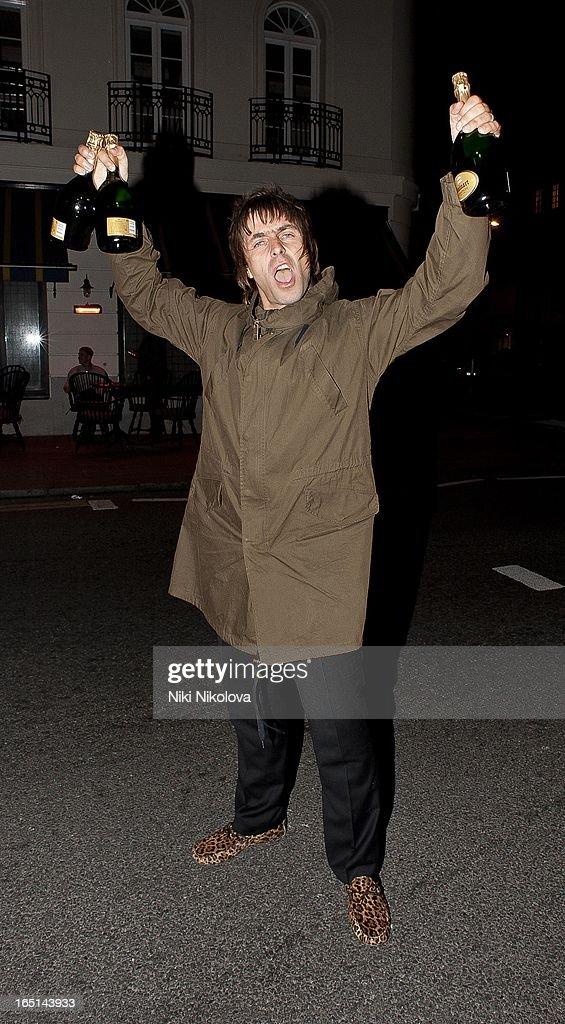 Liam Gallagher sighting on March 31, 2013 in London, England.