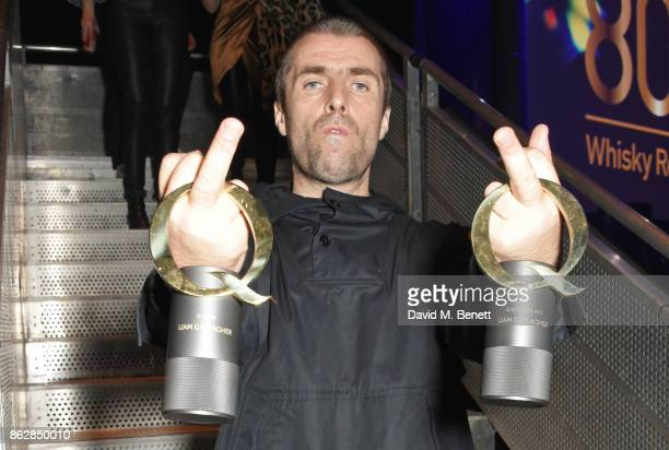 Liam Gallagher winner of the Q Icon award and the Q Best Live Act award attends The Q Awards 2017 in association with Absolute Radio at The...