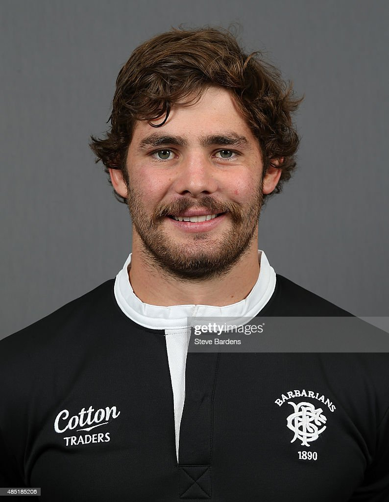 Liam Gill of the Barbarians poses for a portrait during the Barbarians photocall at the Westbury Hotel on August 25, 2015 in London, England.
