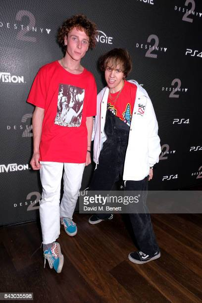 Liam Haygarth and Jordan Cardy of Rat Boy attend the Destiny 2 launch event on PlayStation 4 Available from Wednesday 6th September 2017 #Destiny2 at...