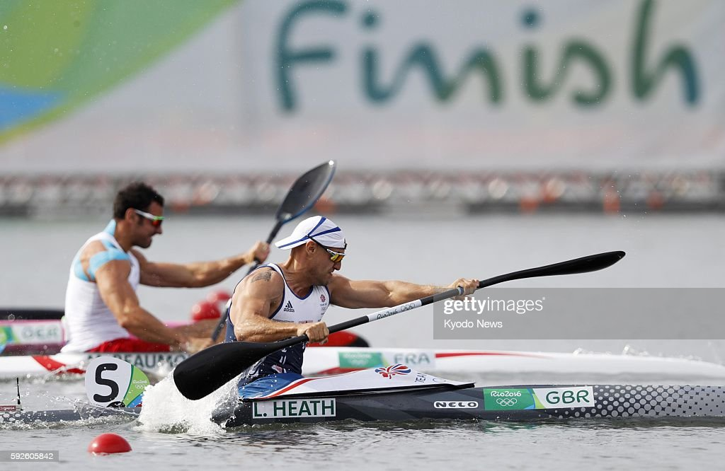Liam Heath of Britain competes during the men's kayak single 200meter final en route to winning gold at the Rio de Janeiro Olympics on Aug 20 2016