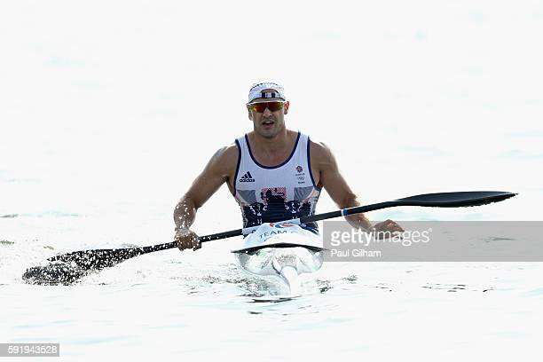 Liam Heath of Great Britain competes in the Men's Kayak Single 200m on Day 14 of the Rio 2016 Olympic Games at the Lagoa Stadium on August 19 2016 in...