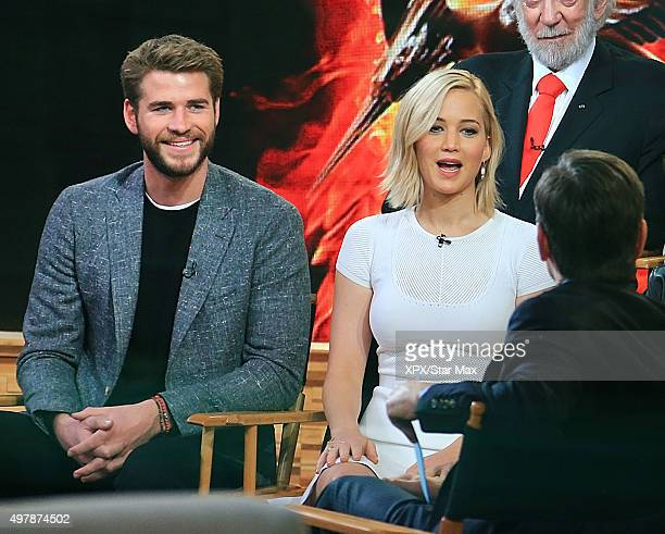 Liam Hemsworth and Jennifer Lawrence are seen on November 18 2015 in New York City