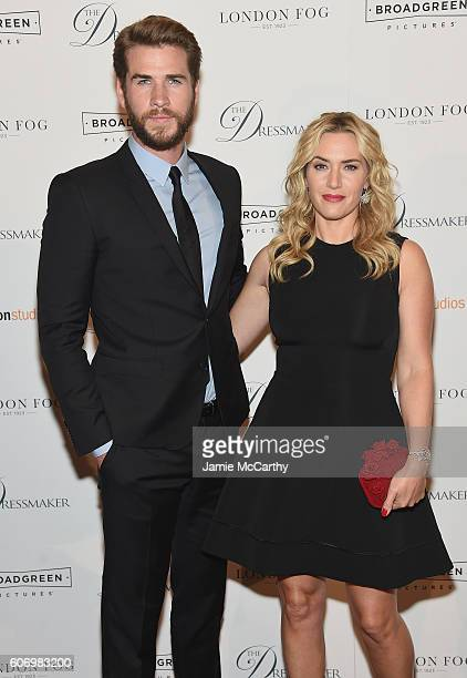 Liam Hemsworth and Kate Winslet attend 'The Dressmaker' New York Screening at Florence Gould Hall Theater on September 16 2016 in New York City