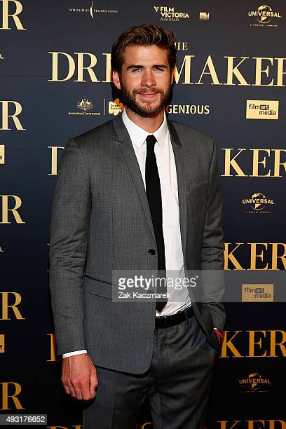 Liam Hemsworth arrives ahead of the Australian premiere of 'The Dressmaker' on October 18 2015 in Melbourne Australia