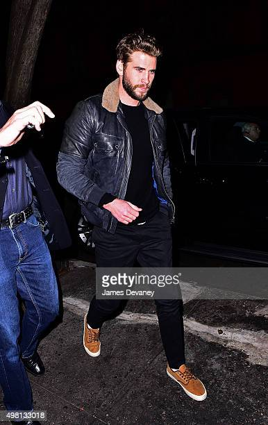 Liam Hemsworth arrives to Waverly Inn on November 20 2015 in New York City