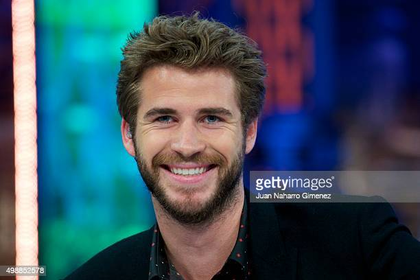 Liam Hemsworth attends 'El Hormiguero' Tv show at Vertice Studio on November 26 2015 in Madrid Spain