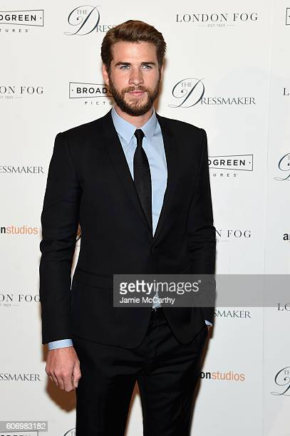 Liam Hemsworth attends 'The Dressmaker' New York Screening at Florence Gould Hall Theater on September 16 2016 in New York City